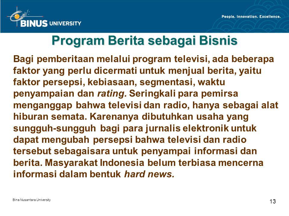 Program Berita sebagai Bisnis