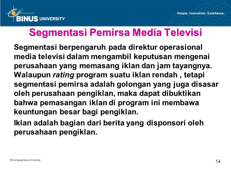 Segmentasi Pemirsa Media Televisi