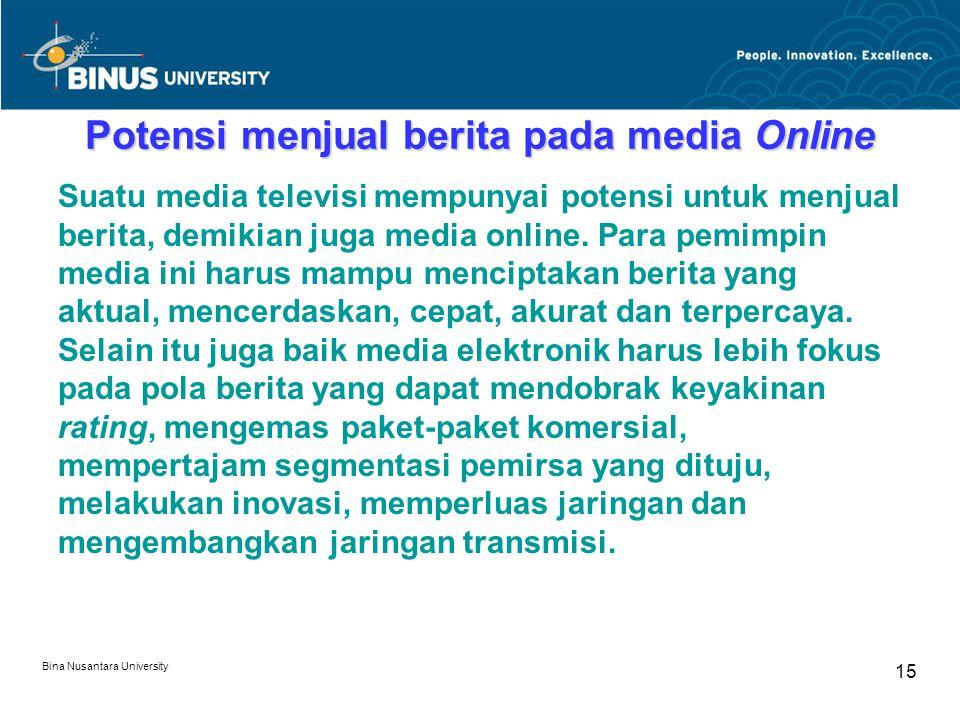 Potensi menjual berita pada media Online