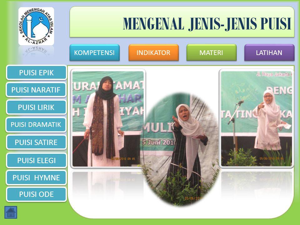 MENGENAL JENIS-JENIS PUISI
