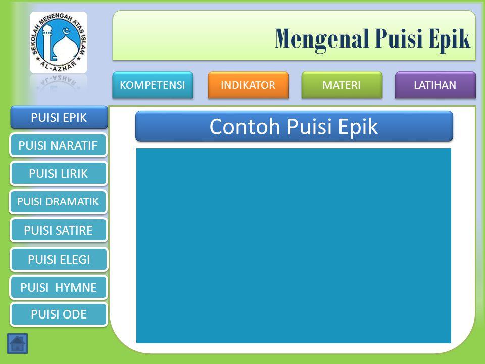 Mengenal Puisi Epik Contoh Puisi Epik PUISI EPIK PUISI NARATIF