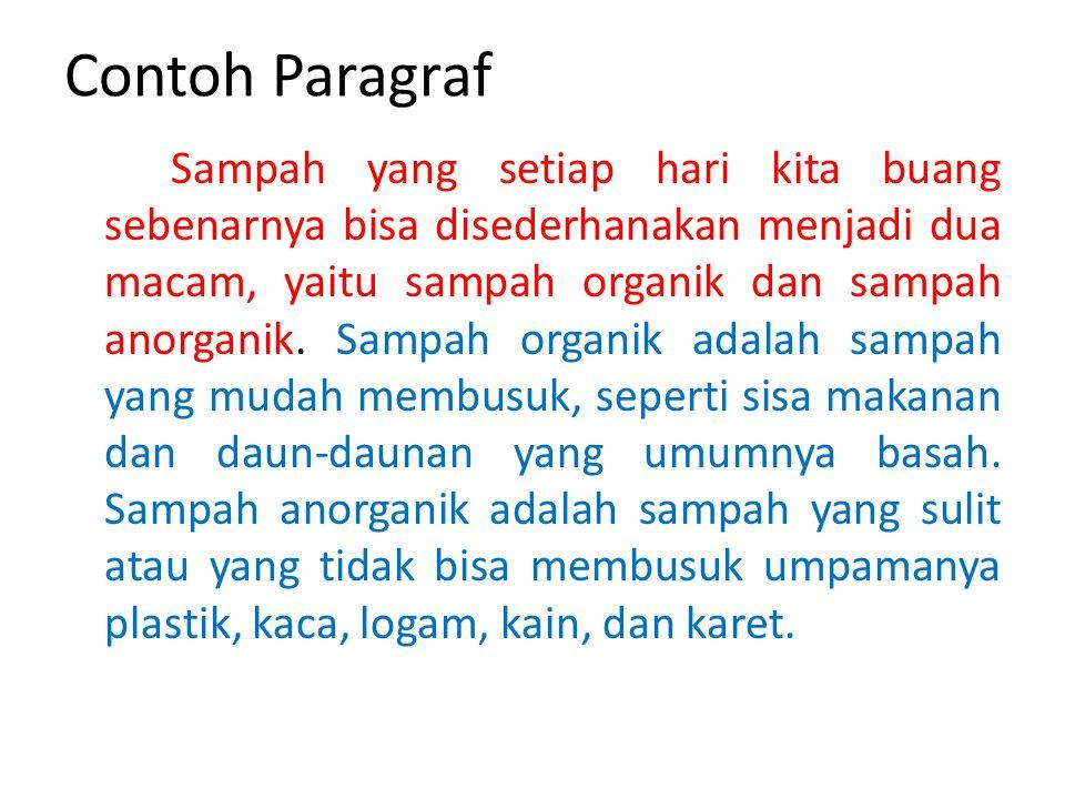 Contoh Paragraf