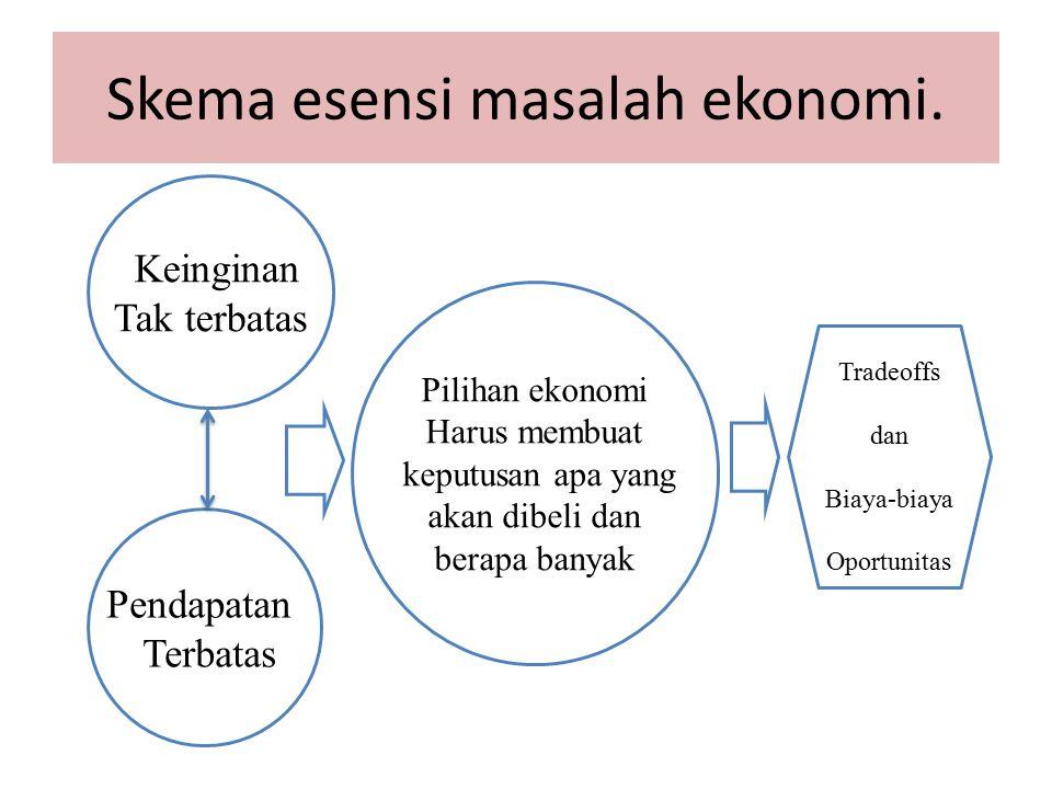 Skema esensi masalah ekonomi.