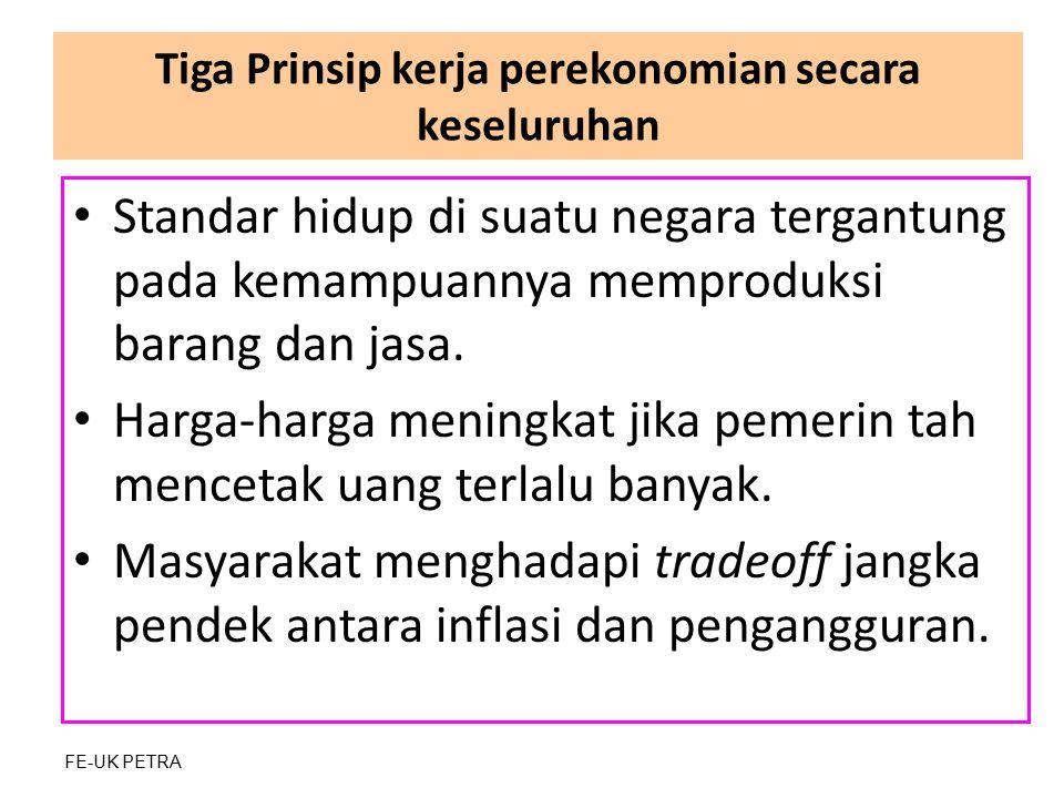 Tiga Prinsip kerja perekonomian secara keseluruhan