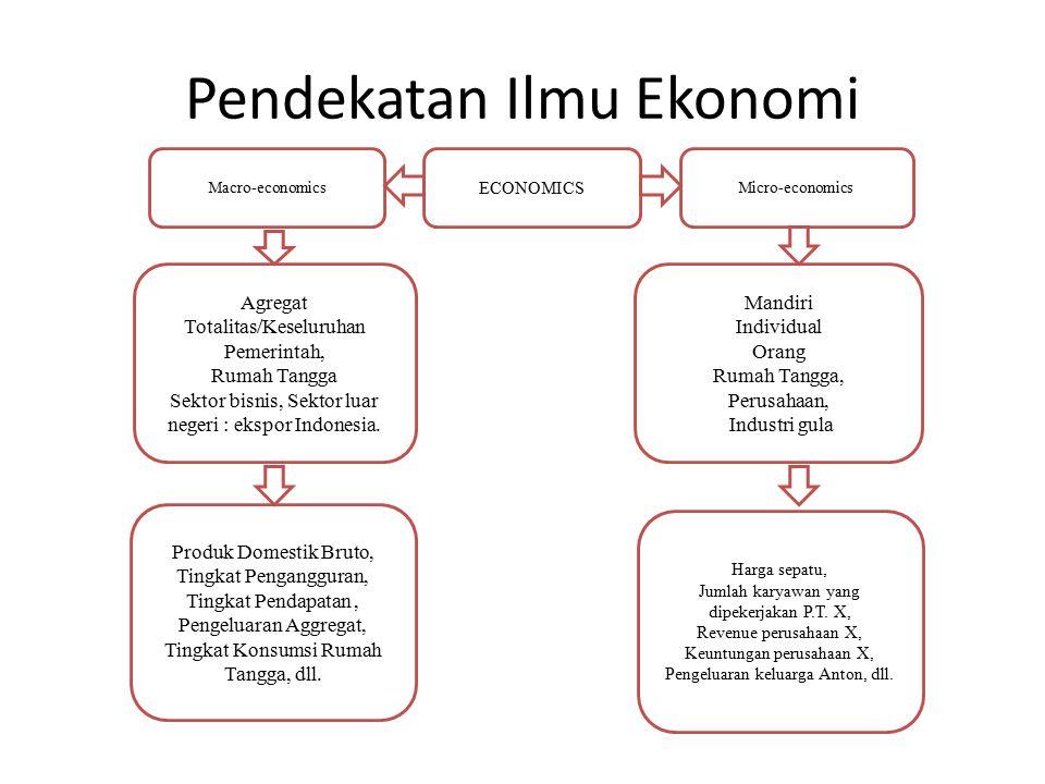 Pendekatan Ilmu Ekonomi