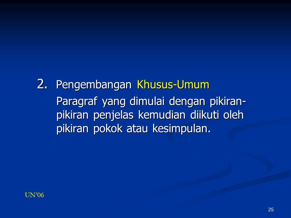 2. Pengembangan Khusus-Umum