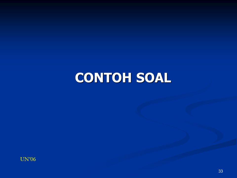 CONTOH SOAL UN'06