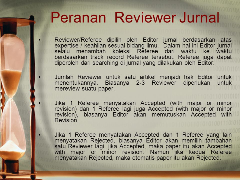 Peranan Reviewer Jurnal