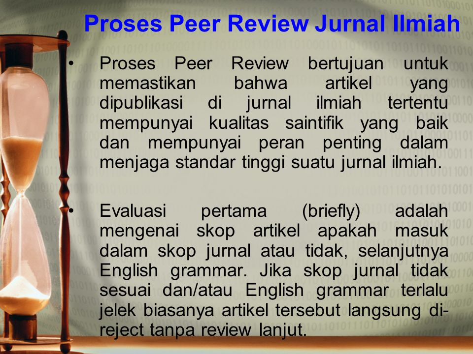 Proses Peer Review Jurnal Ilmiah
