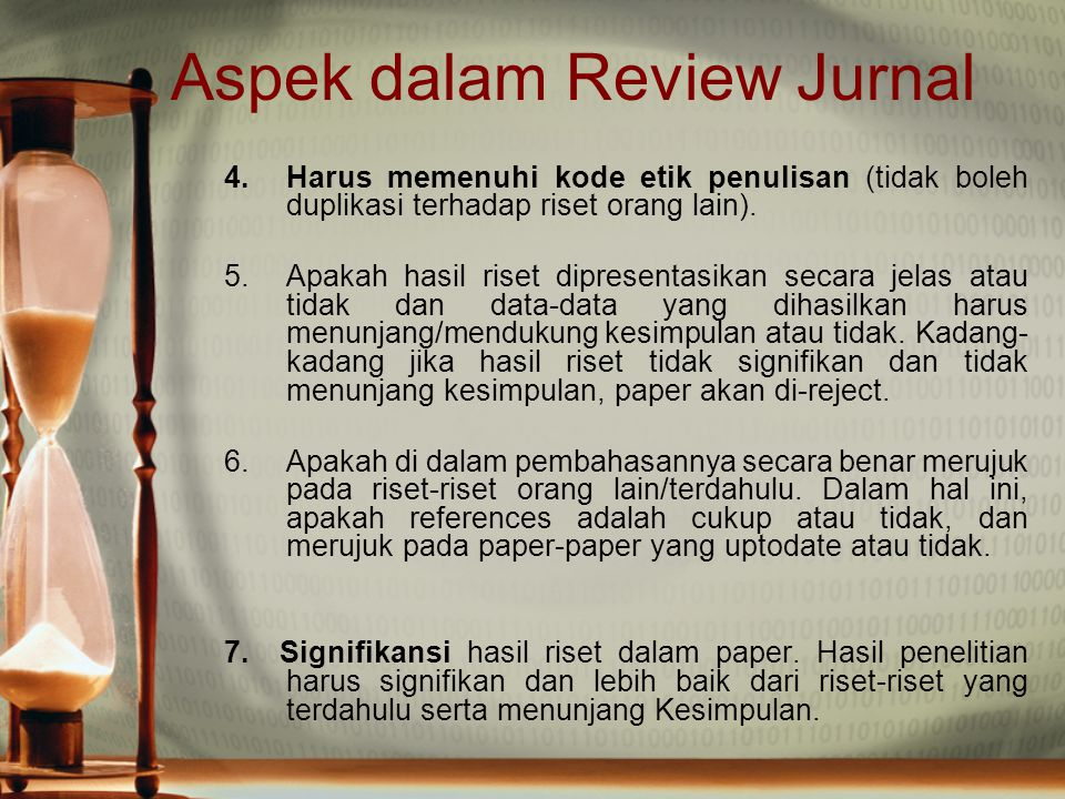 Aspek dalam Review Jurnal