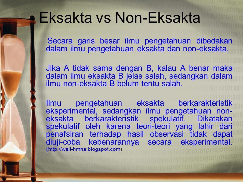 Eksakta vs Non-Eksakta