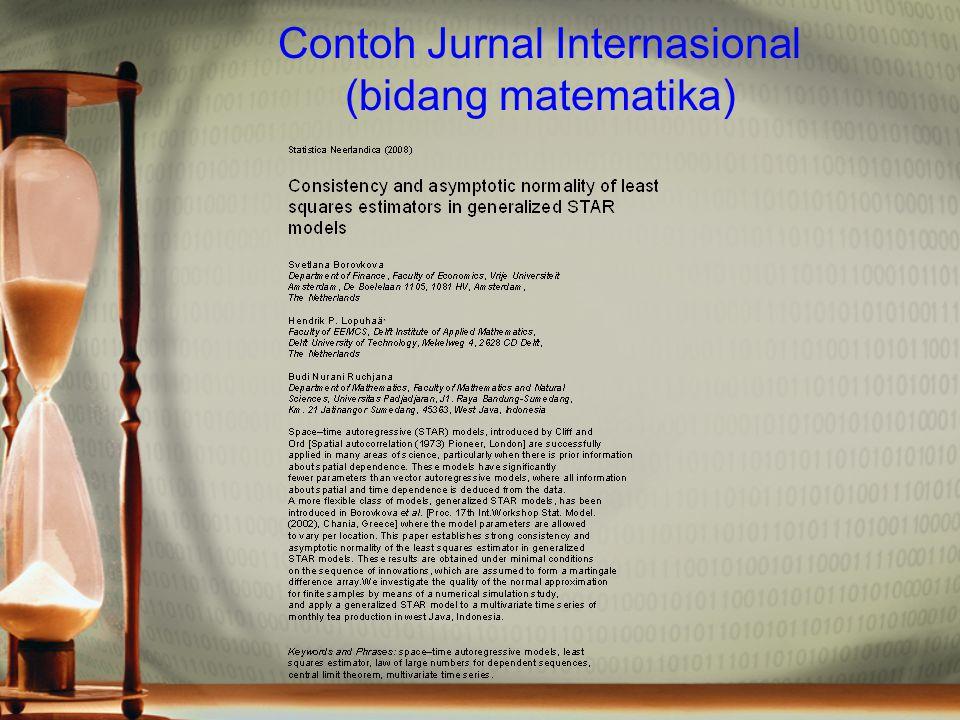 Contoh Jurnal Internasional (bidang matematika)