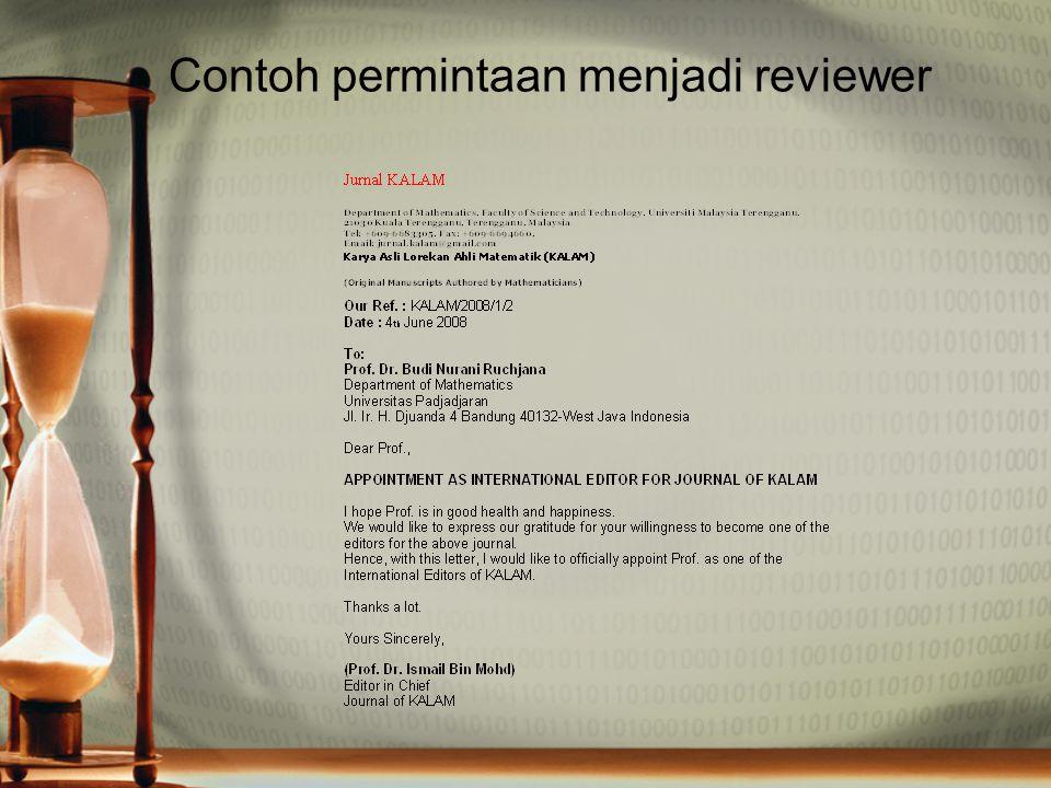 Contoh permintaan menjadi reviewer