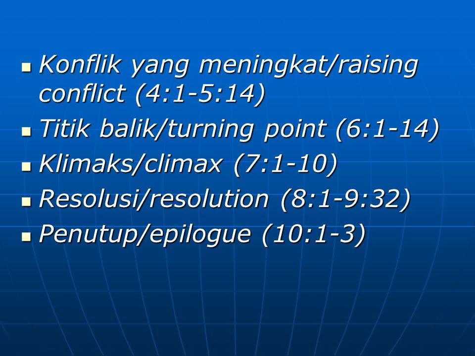 Konflik yang meningkat/raising conflict (4:1-5:14)