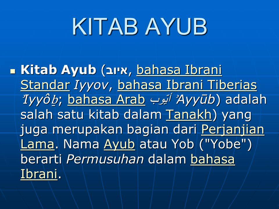 KITAB AYUB