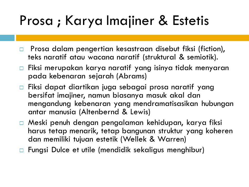 Prosa ; Karya Imajiner & Estetis
