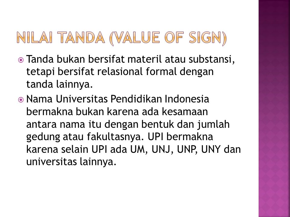 Nilai Tanda (Value of Sign)