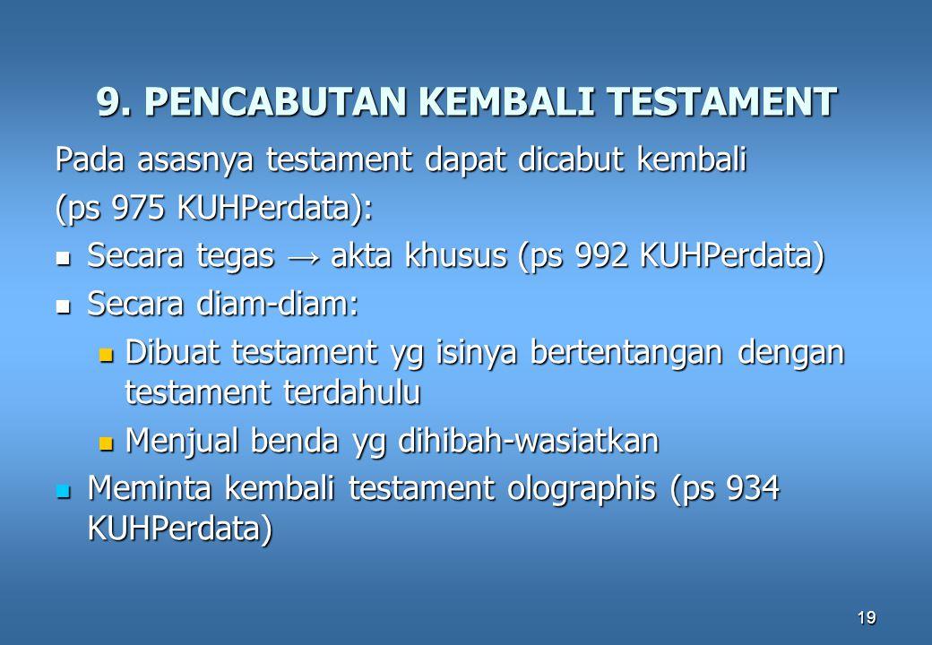 9. PENCABUTAN KEMBALI TESTAMENT