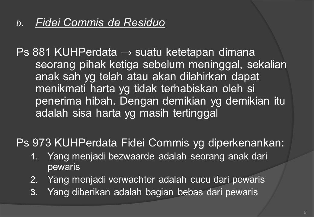 Fidei Commis de Residuo
