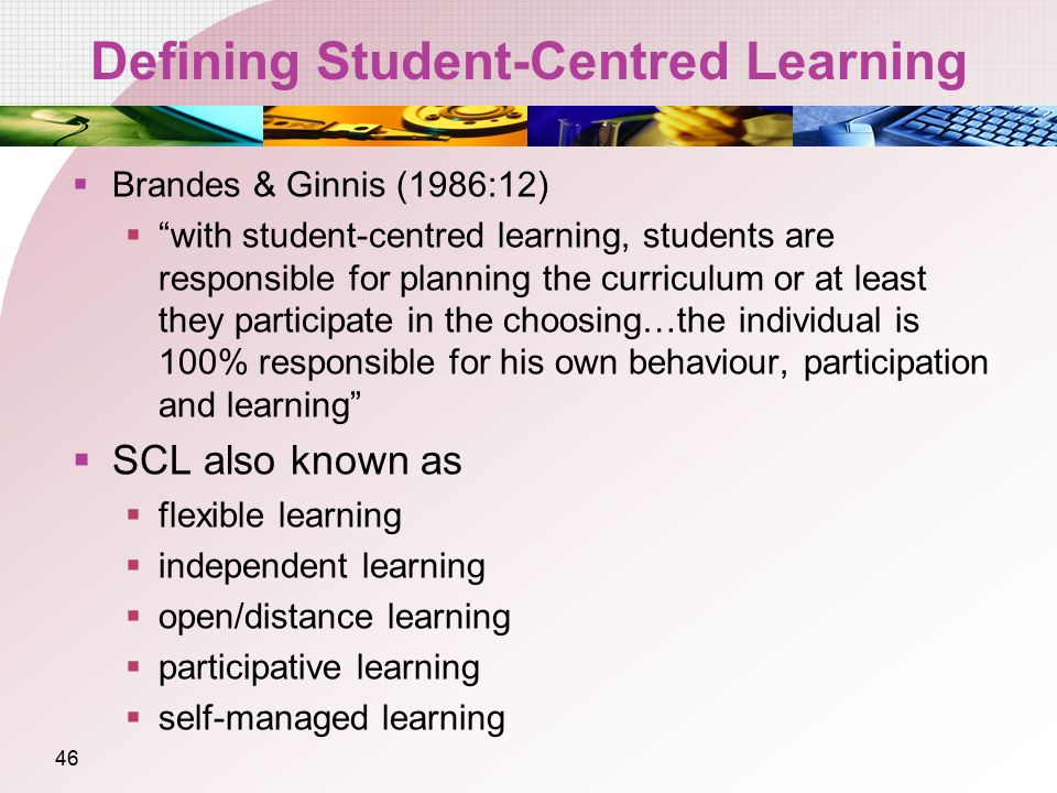 Defining Student-Centred Learning