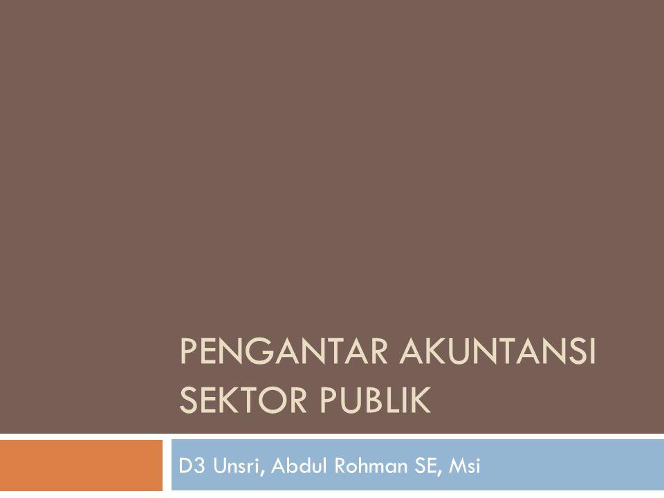 Pengantar Akuntansi Sektor Publik