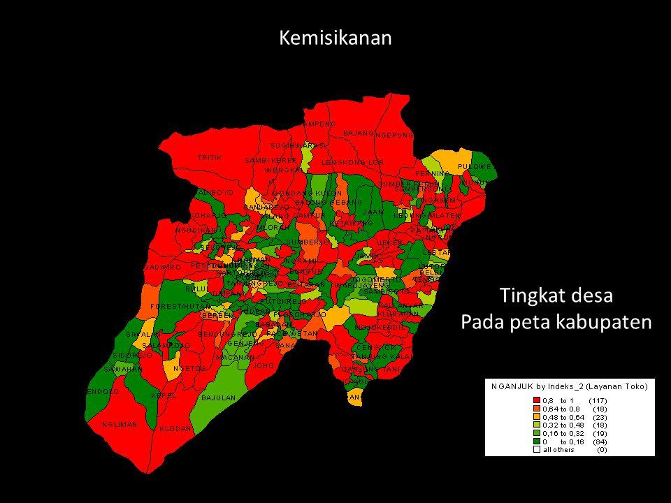 Tingkat desa Pada peta kabupaten