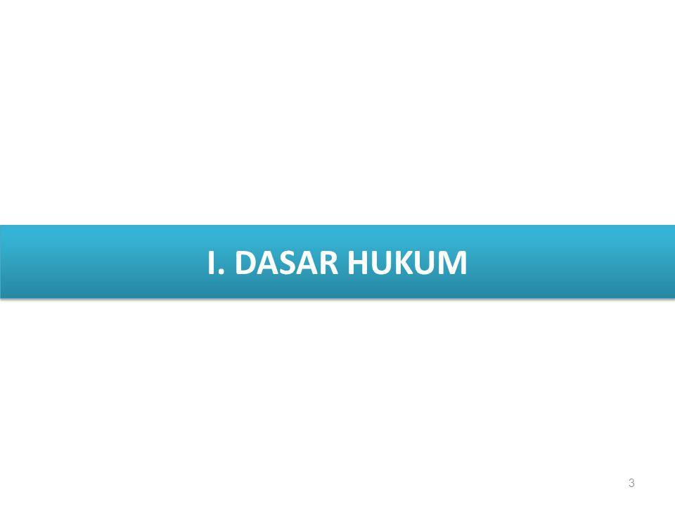 I. DASAR HUKUM