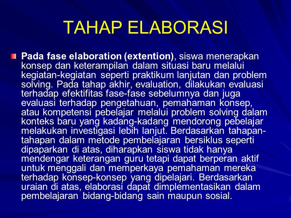 TAHAP ELABORASI