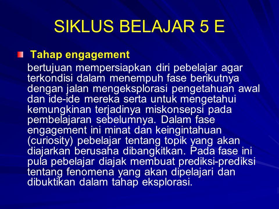 SIKLUS BELAJAR 5 E Tahap engagement