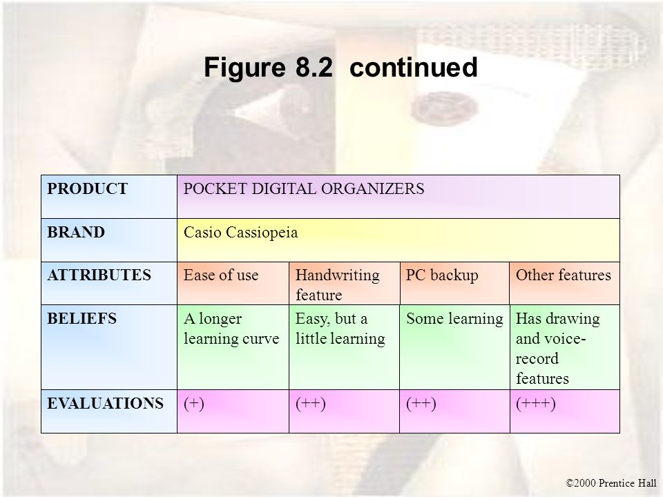 Figure 8.2 continued PRODUCT POCKET DIGITAL ORGANIZERS BRAND
