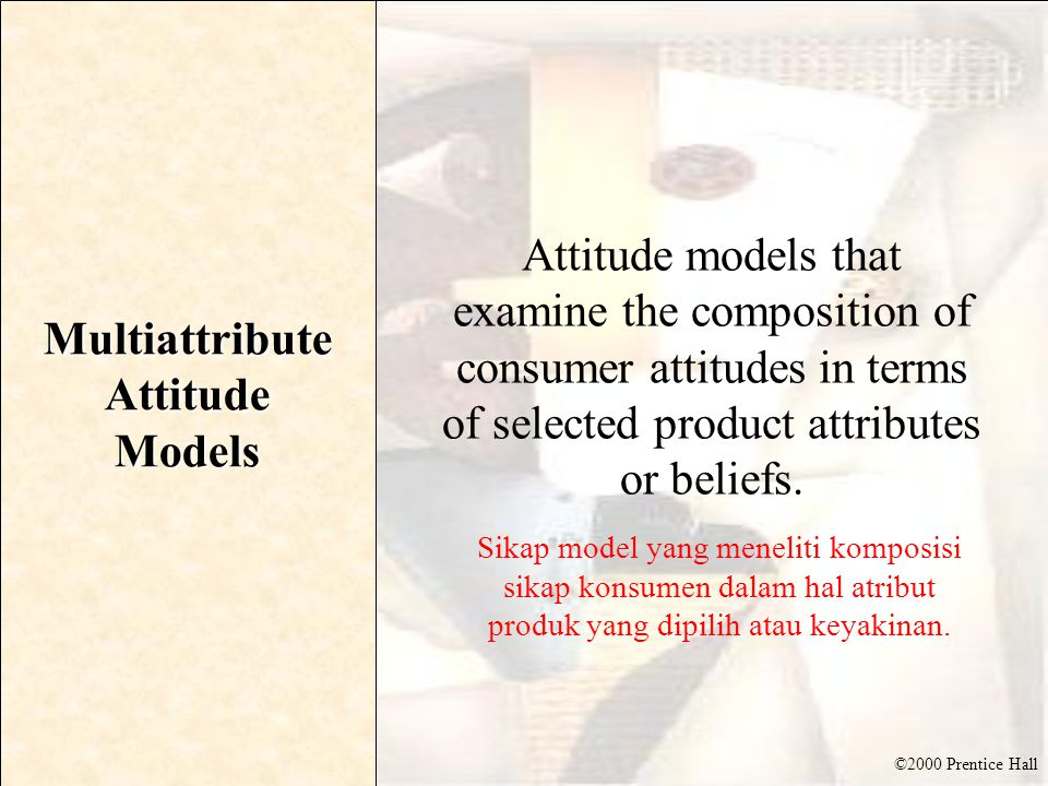 Multiattribute Attitude Models
