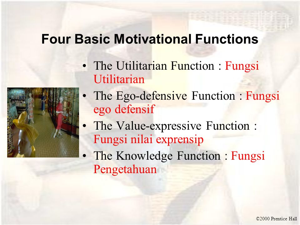 Four Basic Motivational Functions