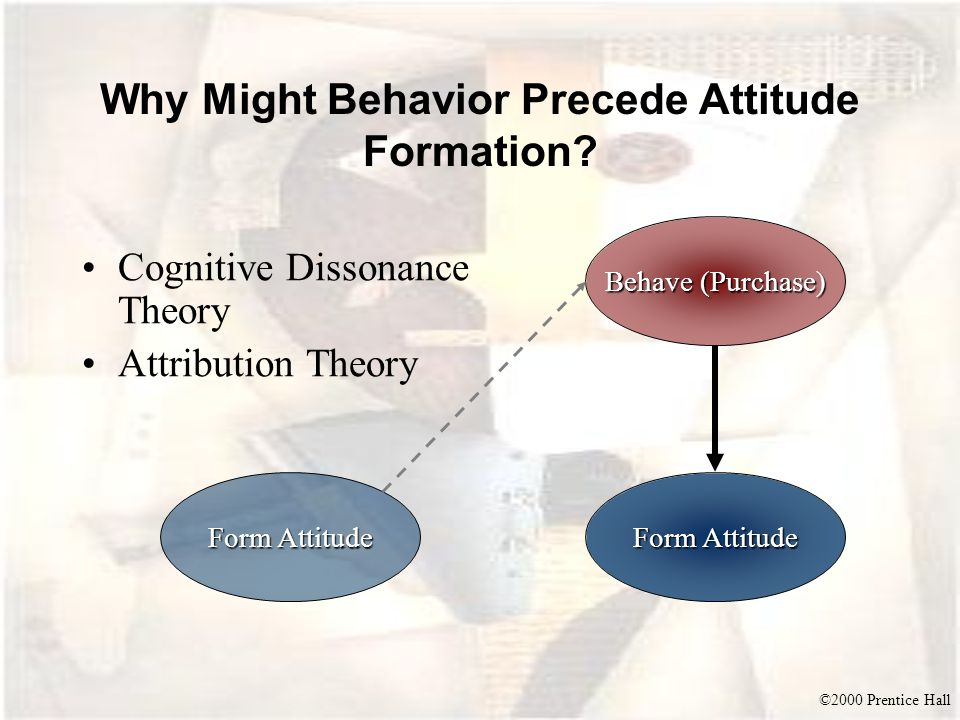 Why Might Behavior Precede Attitude Formation