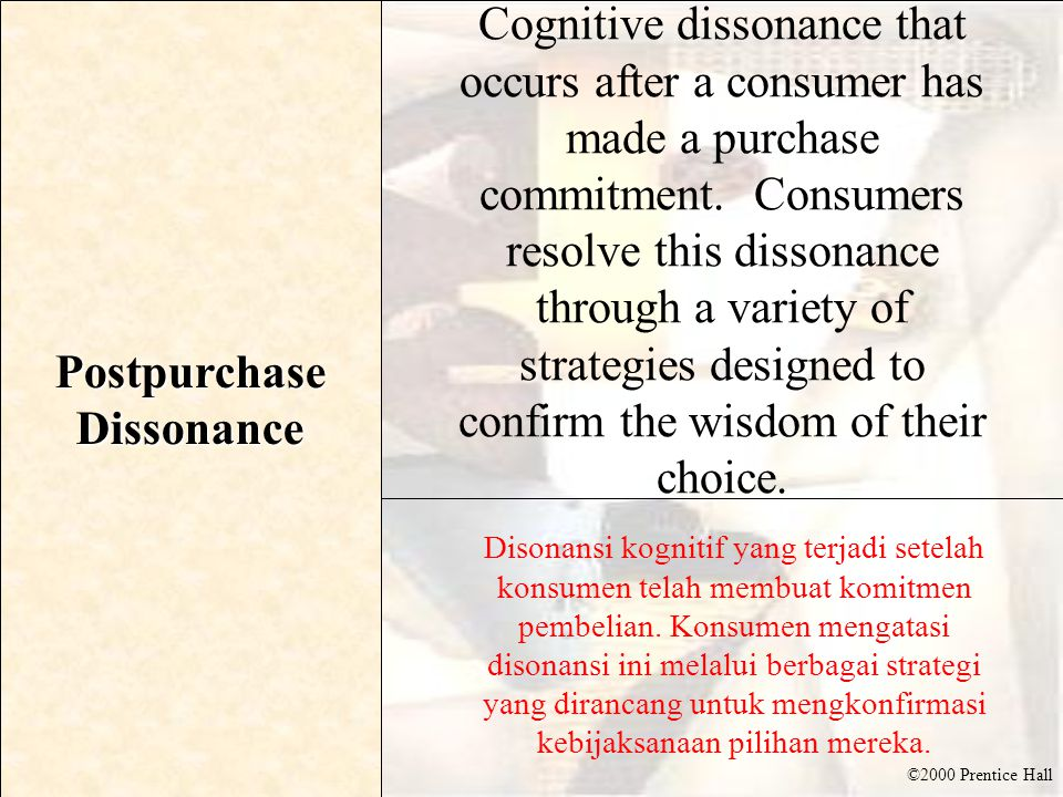 Postpurchase Dissonance