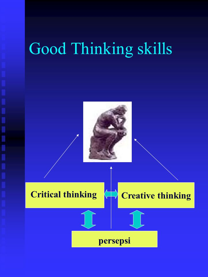 Good Thinking skills Creative thinking Critical thinking persepsi