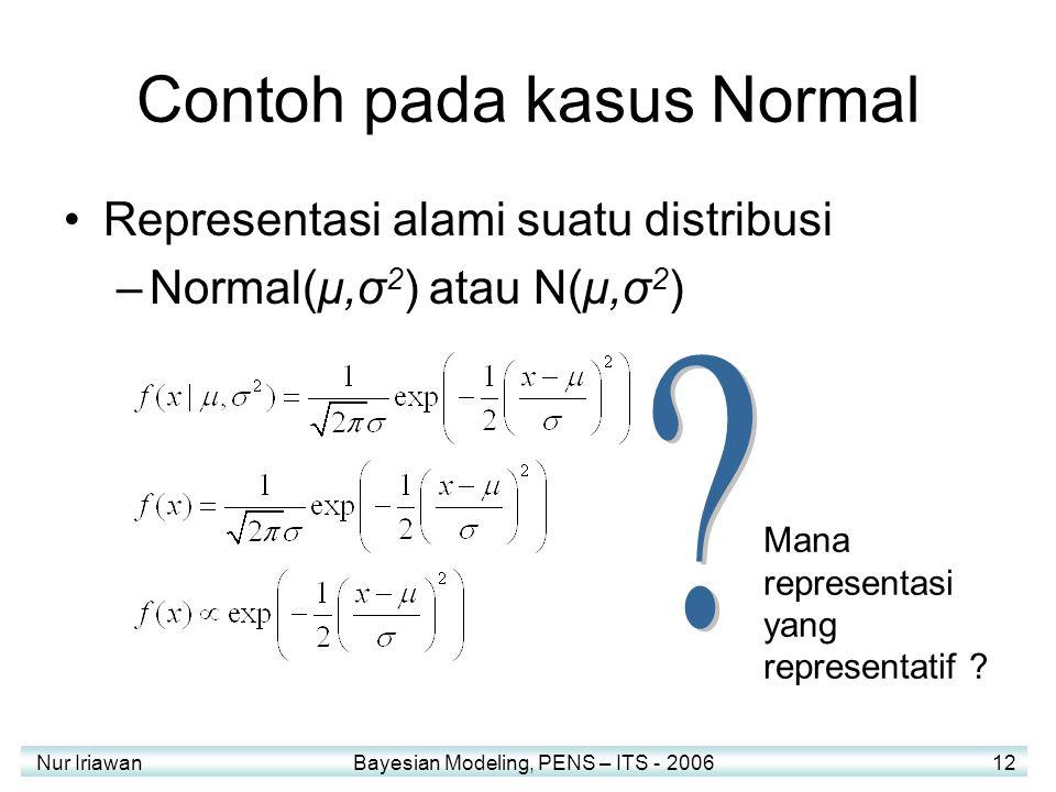 Contoh pada kasus Normal