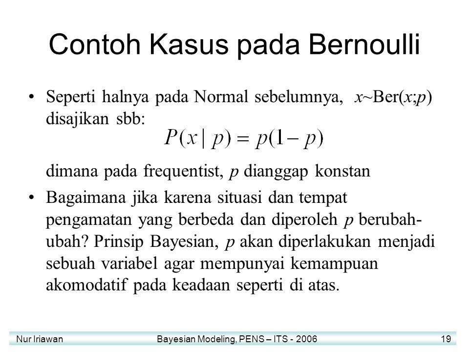 Contoh Kasus pada Bernoulli