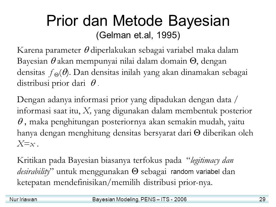Prior dan Metode Bayesian (Gelman et.al, 1995)
