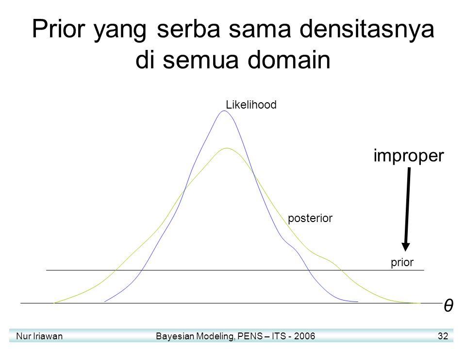 Prior yang serba sama densitasnya di semua domain
