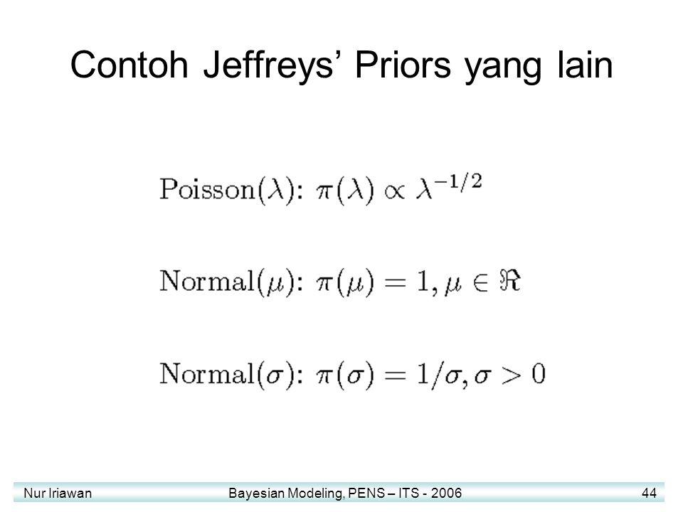 Contoh Jeffreys' Priors yang lain