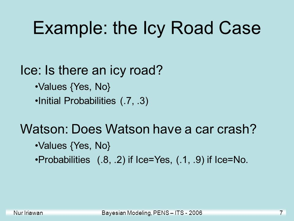 Example: the Icy Road Case
