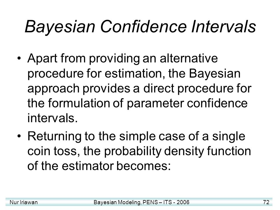 Bayesian Confidence Intervals