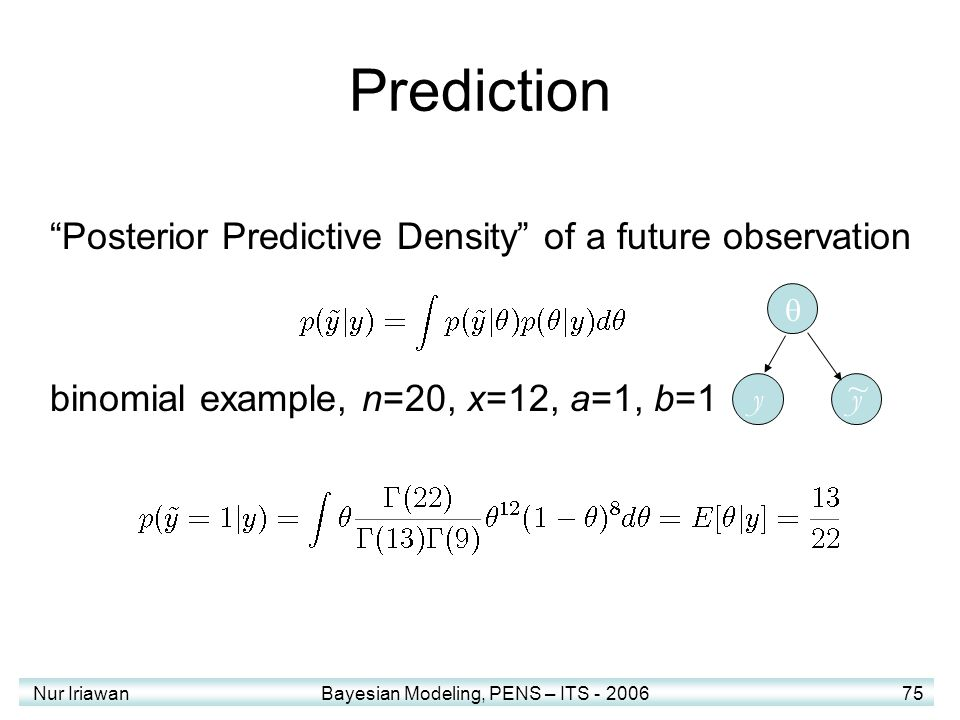 Prediction Posterior Predictive Density of a future observation