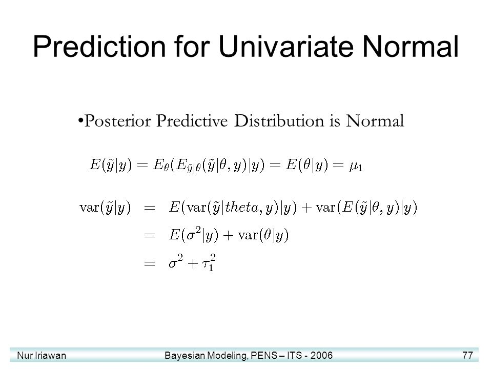 Prediction for Univariate Normal