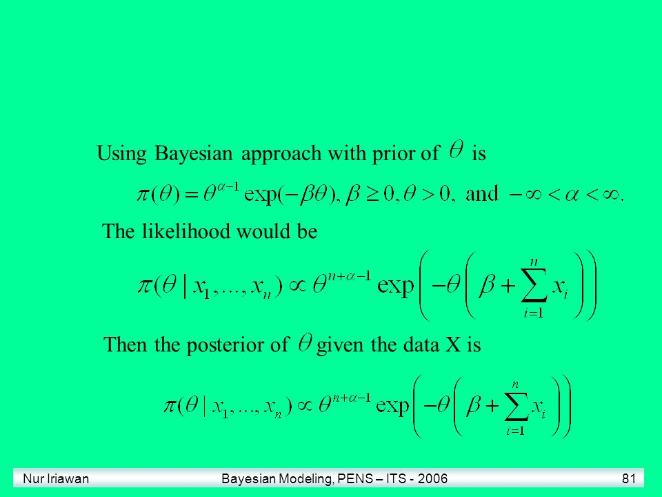 Using Bayesian approach with prior of is