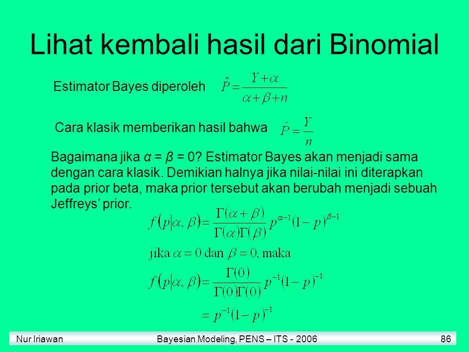 Lihat kembali hasil dari Binomial