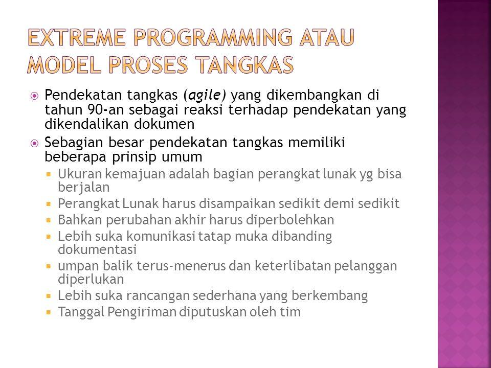 Extreme Programming atau Model Proses Tangkas
