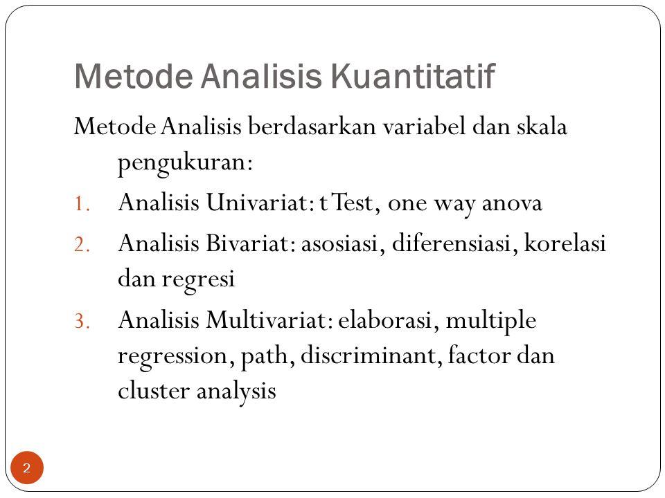 Metode Analisis Kuantitatif