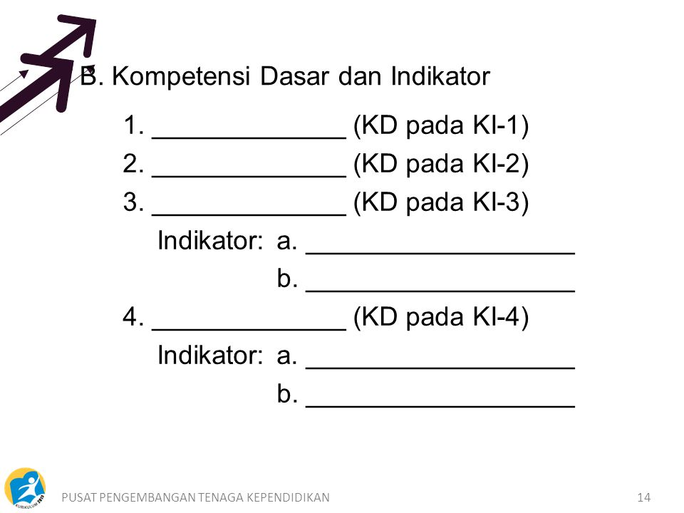 B. Kompetensi Dasar dan Indikator
