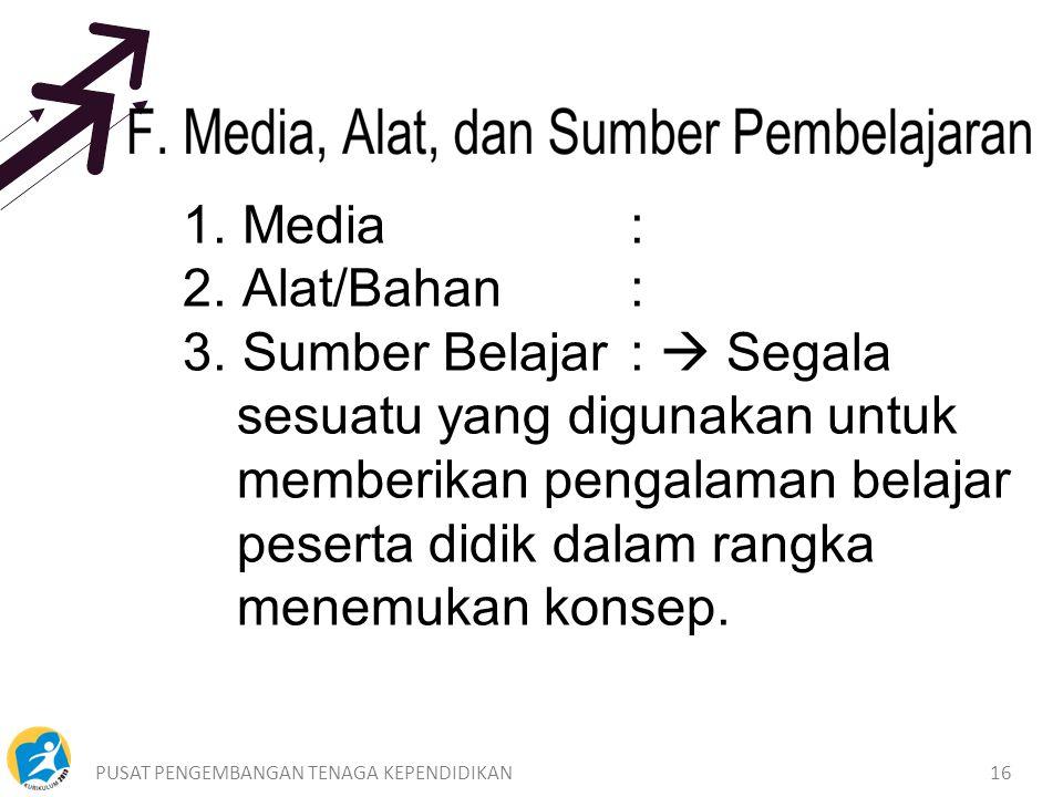 1. Media : 2. Alat/Bahan :